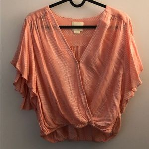 Anthropologie cropped blouse